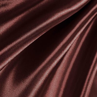 Brown Poly Satin Fabric / 50 Yards Roll