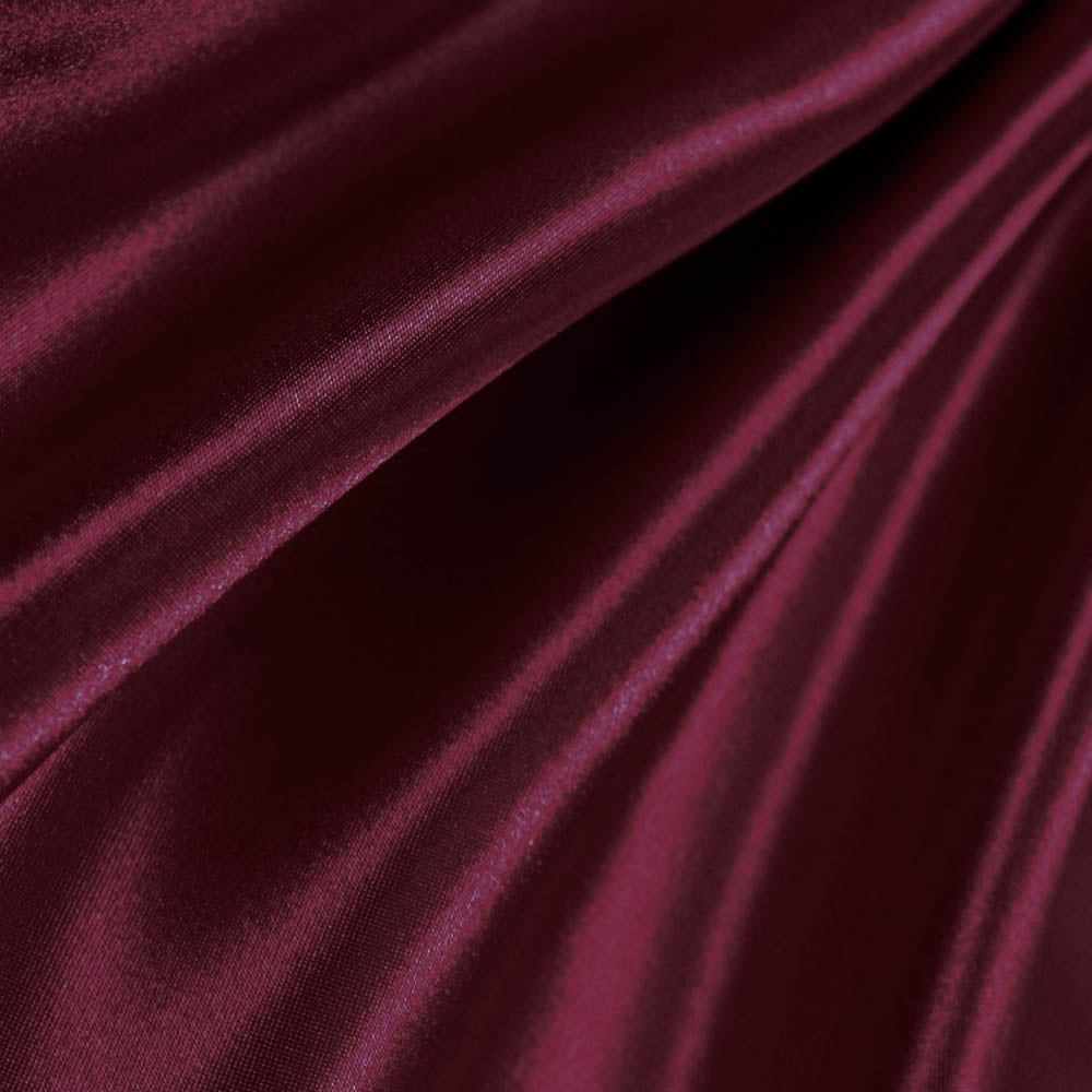 Burgundy Poly Satin Fabric