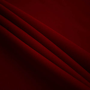 Burgundy Poly Poplin Fabric