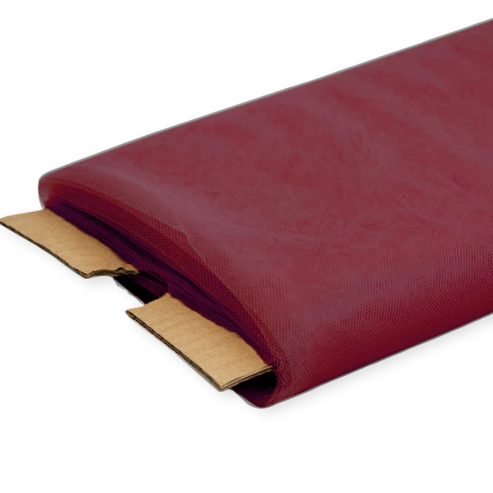 Burgundy Nylon Tulle Fabric - 40 Yards By Roll