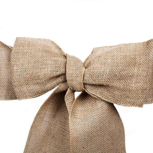 (12 Pack ) Natural Burlap Sash