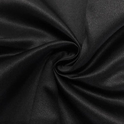 Black Dull Matte Bridal Satin Fabric