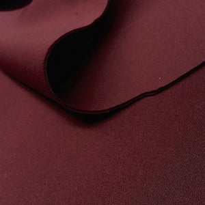 Burgundy Super Techno Neoprene Scuba Knit 4-way Stretch Fabric / 50 Yards Roll