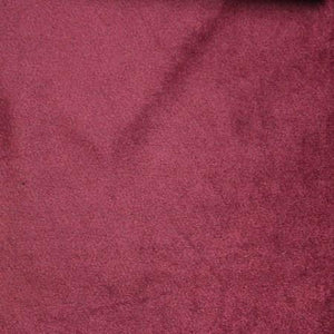 Burgundy Velboa Fur Solid Short Pile