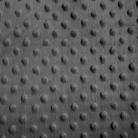 Charcoal Gray Minky Dimple Dot Fabric