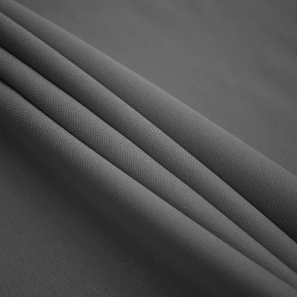 Charcoal Polyester Poplin Fabric