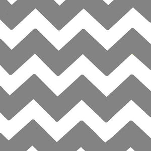 Chevron Gray and White Poly Cotton Fabric