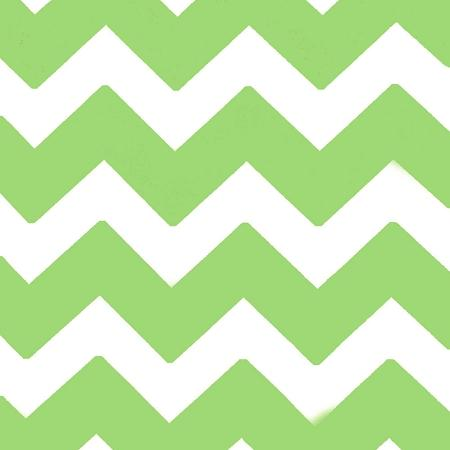 Chevron Lime and White Poly Cotton Fabric