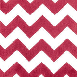 Chevron Red and White Poly Cotton Fabric
