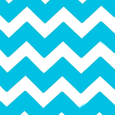 Chevron Turquoise and White Poly Cotton Fabric