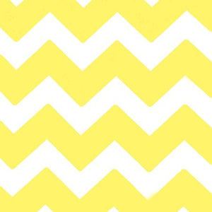 Chevron Yellow and White Poly Cotton Fabric