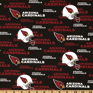 NFL Cotton Broadcloth Arizona Cardinals  100% Cotton Print Fabric