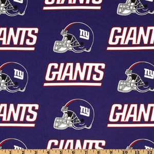 NFL Broadcloth New York Giants Blue/Red 100% Cotton Print Fabric