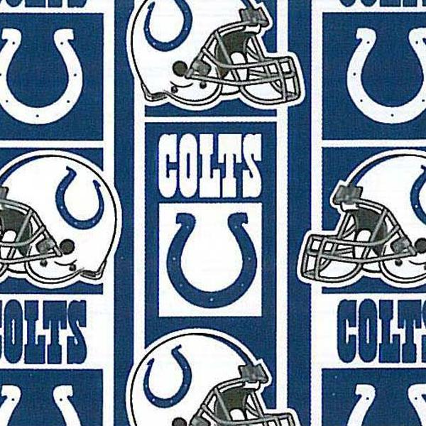 Indianapolis Colts Blocks NFL Fleece Fabric