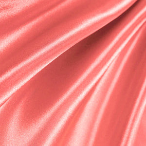 Bridal Satin Coral Fabric