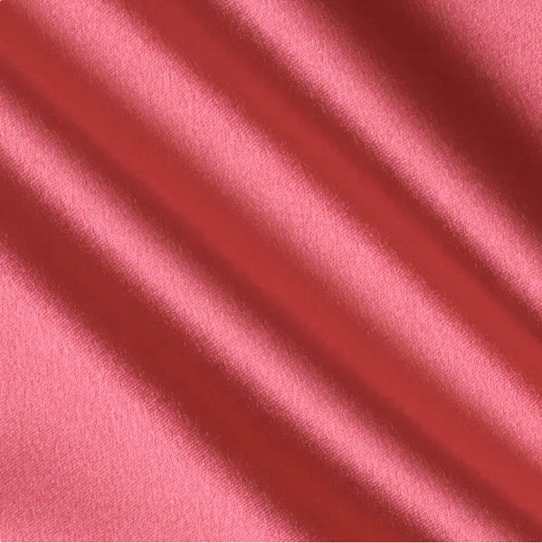 Coral Crepe Back Satin Fabric