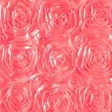 Rosette Satin Coral Fabric