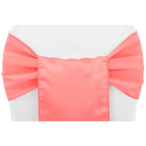 (12 Pack ) Coral Satin Sash
