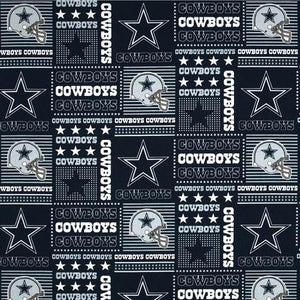 Dallas Cowboys NFL Patchwork 100% Cotton Print
