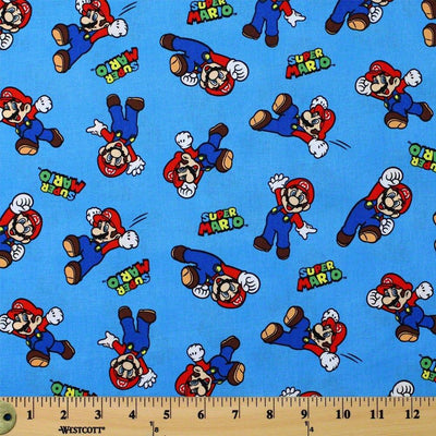 Super Mario 100% Cotton Fabric