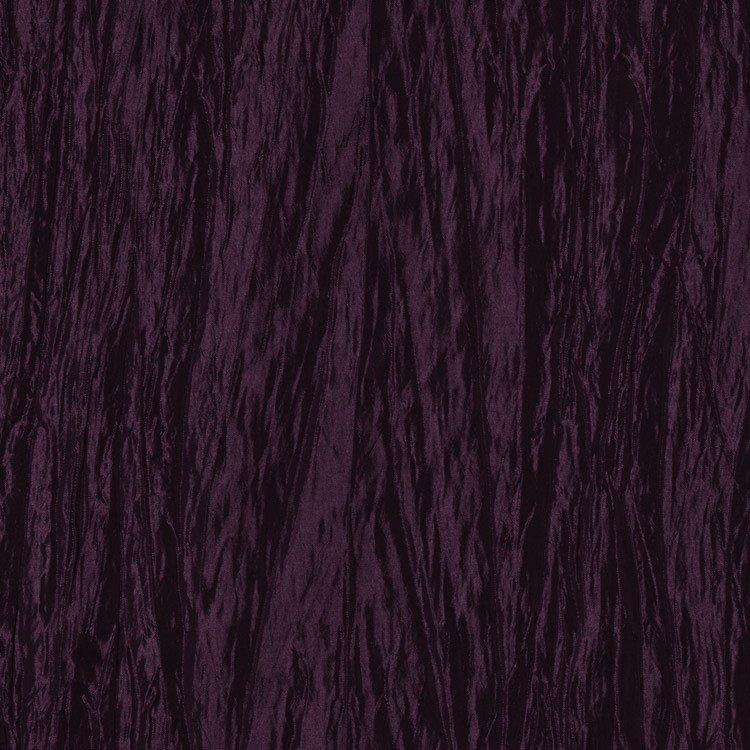 Plum Crushed Taffeta Fabric