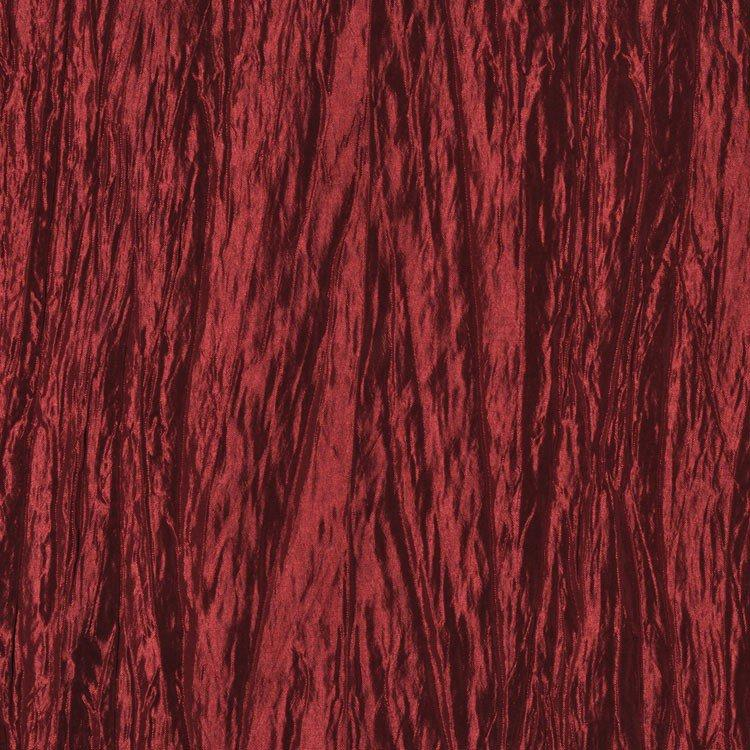 Cranberry Red Crushed Taffeta Fabric