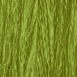 Dark Lime Green Crushed Taffeta Fabric