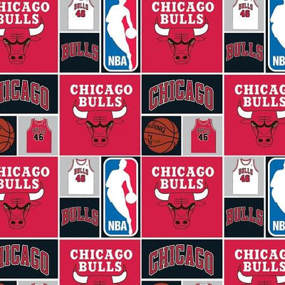 NBA Chicago Bulls 100% Cotton Print Fabric