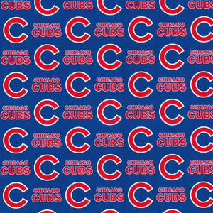 Chicago Cubs MLB Blue 100% Cotton Fabric
