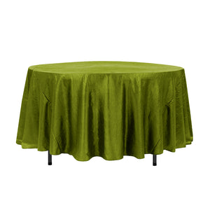 "108"" Lime Crinkle Crushed Taffeta Round Tablecloth"