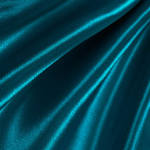 Dark Teal Poly Satin Fabric