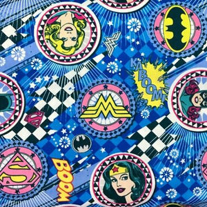 DC Comics Girl Power Circles 100% Cotton Print Fabric