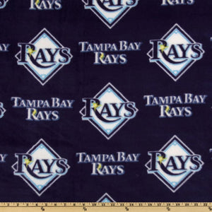 MLB Tampa Bay Rays Allover Fleece Fabric