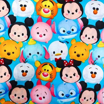 Disney Tsum Tsum 100% Cotton Print Fabric