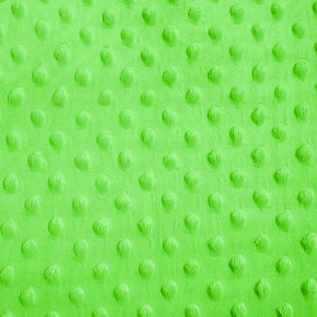 Lime Minky Dimple Dot Fabric