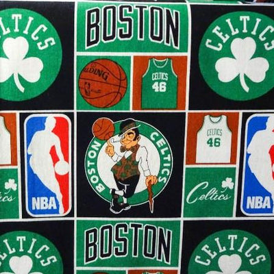 NBA Boston Celtics 100% Cotton Print Fabric