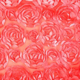 Rosette Mesh Strawberry Satin Fabric