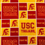 USC Trojans Patchwork NCAA 100% Cotton Print