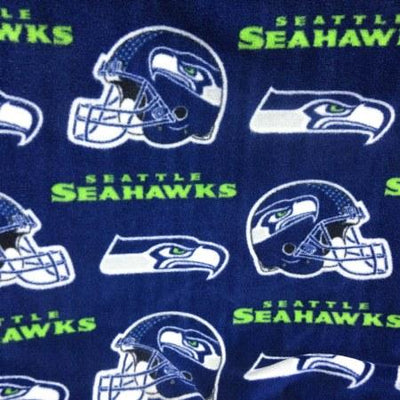 Seattle Seahawks Blue Allover NFL Fleece Fabric