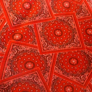 Red Card Bandanna Style Anti Pill Fleece Fabric