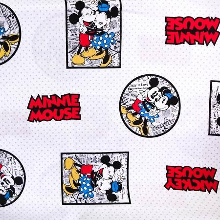 Disney Framed Minnie and Mickey Mouse Vintage 100% Cotton Print ...