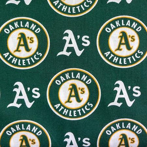 Oakland Athletics Solid MLB 100% Cotton Print