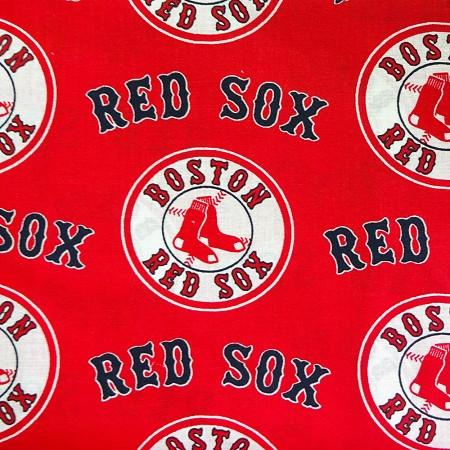 Boston Red Sox Solid MLB 100% Cotton Print Fabric