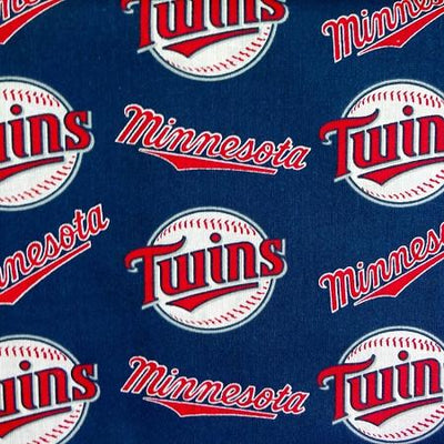 Minnesota Twins Solid MLB 100% Cotton Print Fabric