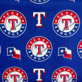 Texas Rangers Solid MLB 100% Cotton Print Fabric