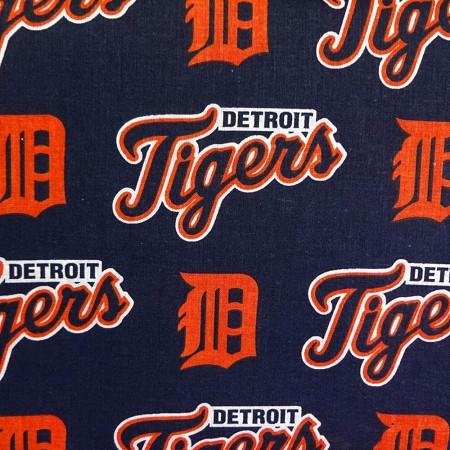 Detroit Tigers Solid MLB 100% Cotton Print Fabric