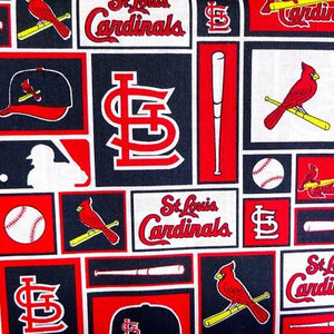 St. Louis Cardinals MLB Patchwork 100% Cotton Print Fabric