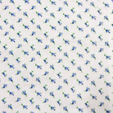 Blue Tulip Flower Flannel Cotton Fabric