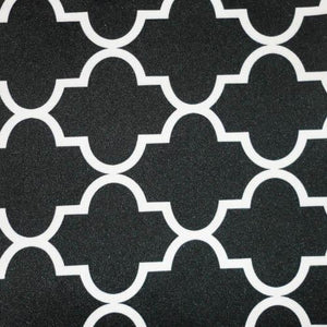 Black Moroccan Canvas Fabric Waterproof Outdoor Fabric