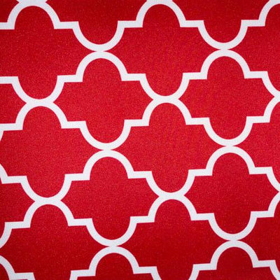 Red Moroccan Canvas Fabric Waterproof Outdoor Fabric